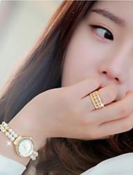 ms diamant magnifique de mode anneau plaqué or