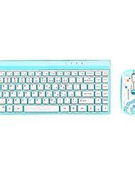 Newmen K10 Wireless 2.4G Chiclet Keys Standard Keyboard + Standard Mouse(1600DPI) Kit