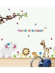 jiubai® animal de bande dessinée salle singe de l'enfant paroi de décoration murale sticker