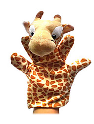 2PCS Christmas Giraffe Parent-child Hand&Finger Puppets Kids Talk Prop