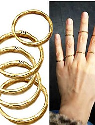 (8 PC)Fashion Personality 8PC Gold-plated Ring