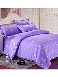 Set of 4    Bamboo Fiber Twill Purple  Duvet  Covers