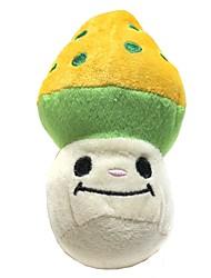 Chien Chat champignon style de jouet en peluche qui grince
