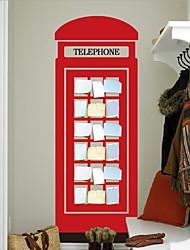 adesivos de parede adesivos de parede, parede moderna da cabine telefônica pvc forma da rua adesivos