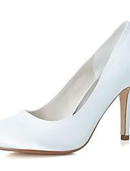 Feminino Wedding Shoes Saltos/Arrendondado Saltos Casamento/Festas & Noite Preto/Azul/Rosa/Roxo/Marfim/Branco/Prateado