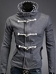 casaco com capuz slim-encaixe dos homens manlodi