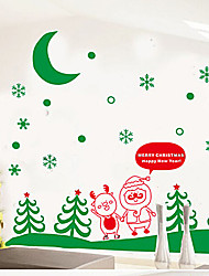 "merry christmas fairy Rentierfamilie Fensteraufkleber (59.04 ""w × 47.28"" l)"