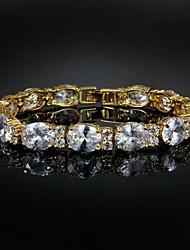 placcato oro piacevole lega con grande bracciale braccialetti zircone (più colori)