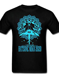 Vocaloid 7th Dragon 2020 Hatsune Miku Black Cotton Cosplay T-Shirt