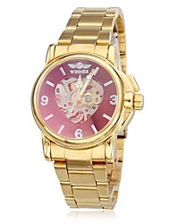 WINNER® Women's Hollow Heart Dial Gold Steel Band Auto Mechanical Wrist Watch (Wrist Watch) Cool Watches Unique Watches