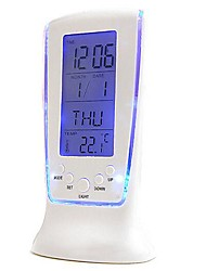 Coway Luxury LED Electronic Clock Colorful Clock Thermometer Screen Alarm Snooze Lazy Nightlight