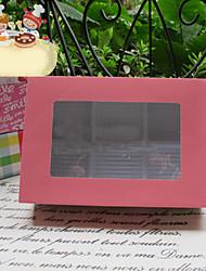 de punto blanco de estilo sencillo cajas del favor torta con 6 cheques