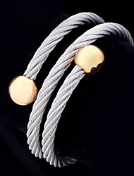 New Cool Unisex 316L Stainless Steel Cuff Wrape Bangle Bracelet 18K Gold Plated Jewelry Gift High Quality