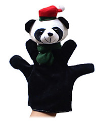 2PCS Christmas Panda Parent-child Hand&Finger Puppets Kids Talk Prop