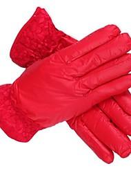 Открытый женские моды кружева HGH ткань хлопка совершенные теплые перчатки