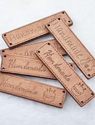 rectangle main album scraft coudre des boutons en bois de bricolage (5 pièces)