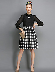 O  M  G  Women's European Fashion Long Sleeve Skirt