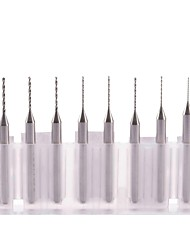 neje 0,2 ~ 1,0 мм вольфрама сталь сверла, установленные для ЧПУ / PCB - серебристый