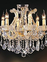 Luxury Restaurant Six Head With Crystal Chandeliers