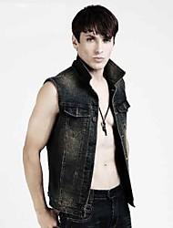 giacca di jeans sleeveless / maglia degli uomini