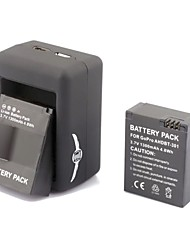 SMJ G-662 Smart Fast Dual-Charging Charger + 2x301 Batteries Travelling Set for Gopro Hero3+/3