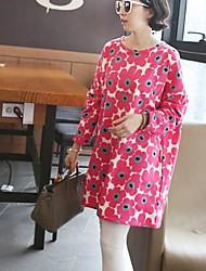 maternité col rond floral robe imprimée (plus de couleurs)