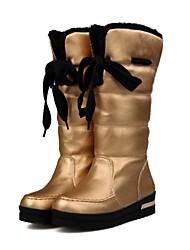 zapatos de las mujeres altas botas de cuña del dedo del pie rodilla talón ronda más colores disponibles
