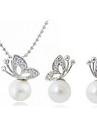 women's Elegant Pearl Jewelry Set