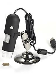 Microscópio digital de 200x 2m usb para um012b com 8 leds para pc