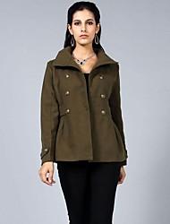 gola casaco fino trincheira das mulheres