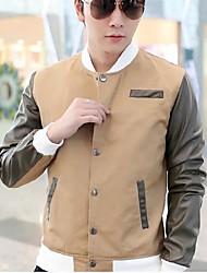 Men's Long Sleeve Regular Jacket , Others Pure