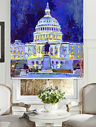 Oil Painting Style The White House Roller Shade