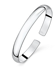 Cuff Bracelets Basic Fashion Handwork Elegant Sterling Silver High Quality for Daily Gift Casual Sports