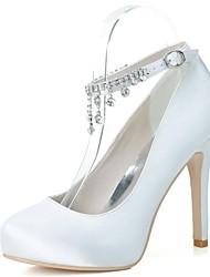 Women's Wedding Shoes Heels/Round Toe Heels Wedding/Party & Evening Black/Blue/Pink/Purple/Ivory/White/Silver