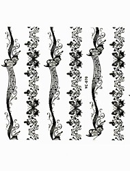 Lovely Nail Art Stickers Decals Wedding Lace Series Nail Accessory for Acrylic Nail Tips DIY Nail Art DecorationsNO.70