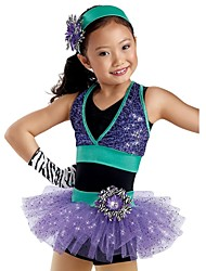 paillettes de jazz de jazz performances enfants / cheerleading costume moderne / danse