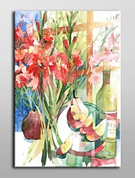 Hand Painted Oil Painting Floral Pears and Gladiolas by Annelein Beukenkamp with Stretched Frame