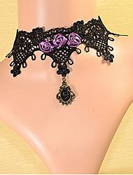 Ванни женщин вырос ряд кружевные готические ожерелье стиль