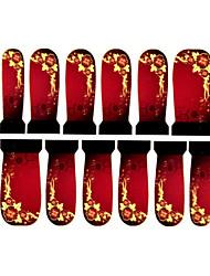 12шт цветочным узором водяной знак ногтей наклейки c3-015