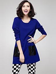 Damen Kleid - Übergrößen Übergröße / Leger Mini Acryl