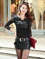 Women's Fashion Bodycon Sexy Leather Skirts