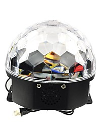 Rgb 6x3W conduit mp3 cristal dj club de pub disco parti boule magique lumière laser d'étape (100-240V)