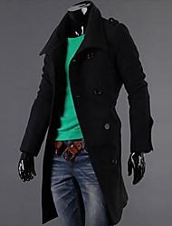 automne et d'hiver les badges des hommes long double veste Manteau.