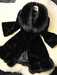 CORONA Women's Solid Color Black Coats & Jackets , Casual V-Neck Long Sleeve
