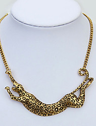 moda leopardo selvagem colar de boximiya mulheres