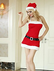 Red Skirt with Shoulder Straps Adult Christmas Woman's Costume