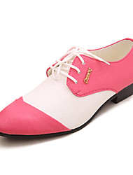 TPU Pink&White Dress Shoes