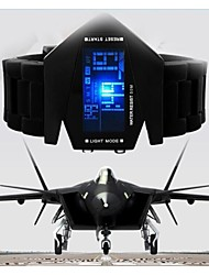 Military Cool LED Display Watch Colorful Light Digital Sport Stealth Fighter Style Wrist Watches
