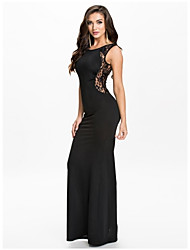 Beauty Elegant Cutout Sexy Women Dress New Maxi Casual Dress Lace Bodycon Club Party Evening Dress 9272