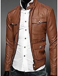 support mince de style coréen veste pu hommes